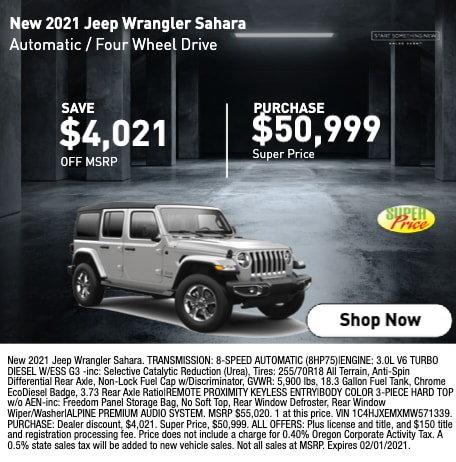 New 2021 Jeep Wrangle Sahara
