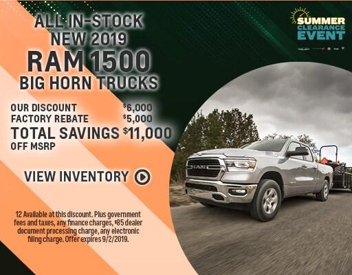 New 2019 Dodge Ram 1500 - $11000 off MSRP