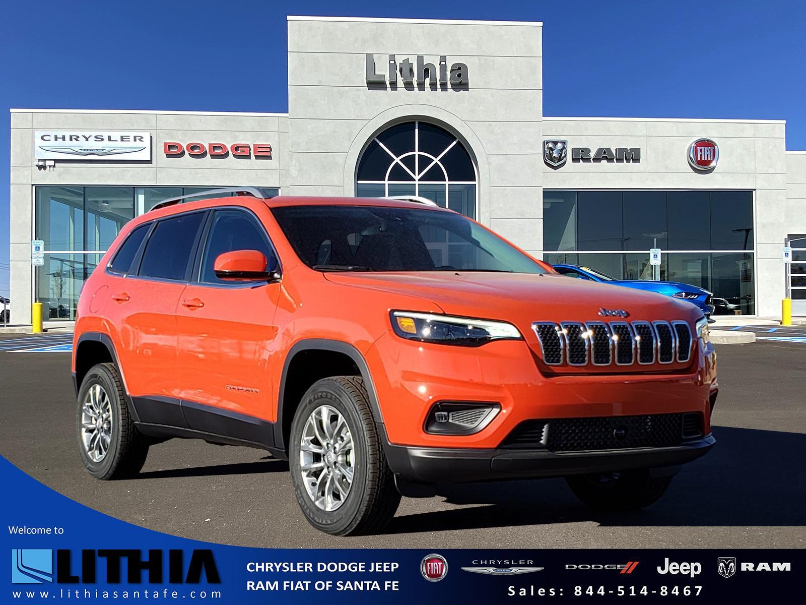 2021 Jeep Cherokee Latitude Lux 4x4 Sport Utility Spitfire Orange For Sale Santa Fe Nm Stock Md132467
