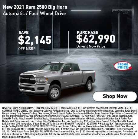 New 2021 Ram 2500 Big Horn