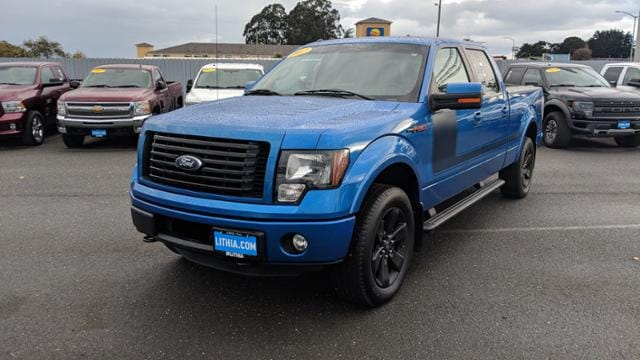 Used 2012 Ford F 150 Truck Supercrew Cab Dark Blue Pearl For Sale In