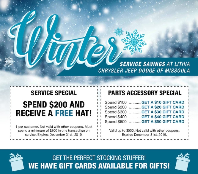Winter Savings at Lithia Chrysler Jeep Dodge of Missoula