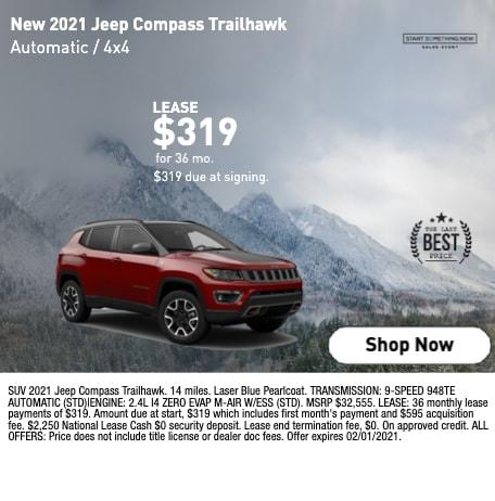 New 2021 Jeep Compass Trailhawk