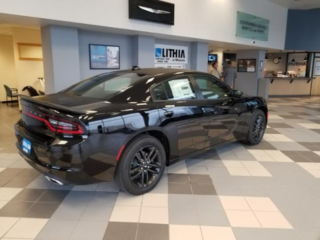 New 2019 Dodge Charger Sedan SXT AWD Pitch Black For Sale in