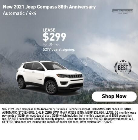 New 2021 Jeep Compass 80th Anniversary