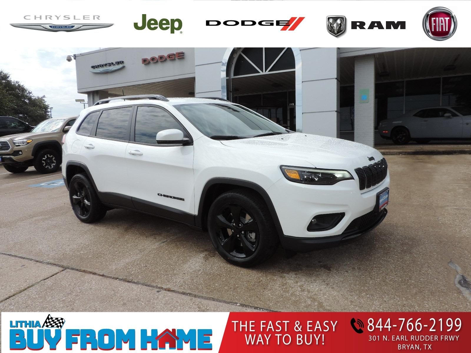 New 2021 Jeep Cherokee Sport Utility Altitude Fwd Bright White For Sale Near Temple Tx Stock Md112070
