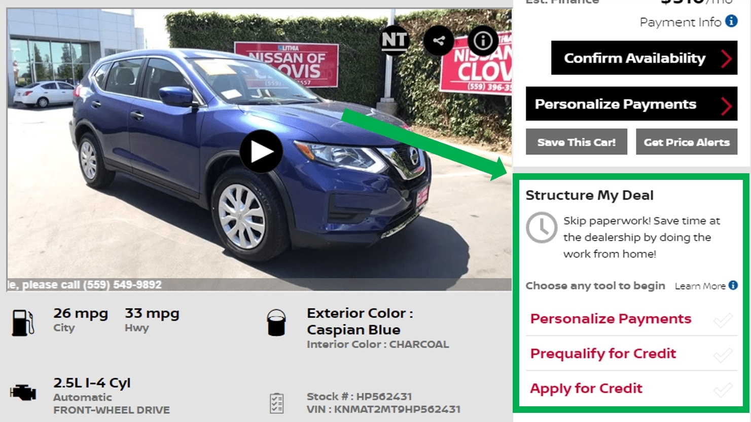 Nissan Of Clovis >> Nissan Financing Save Time At Lithia Nissan Of Clovis Pre Qualify Now