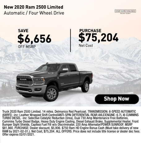 New 2020 RAM 2500 Limited Save $6,656