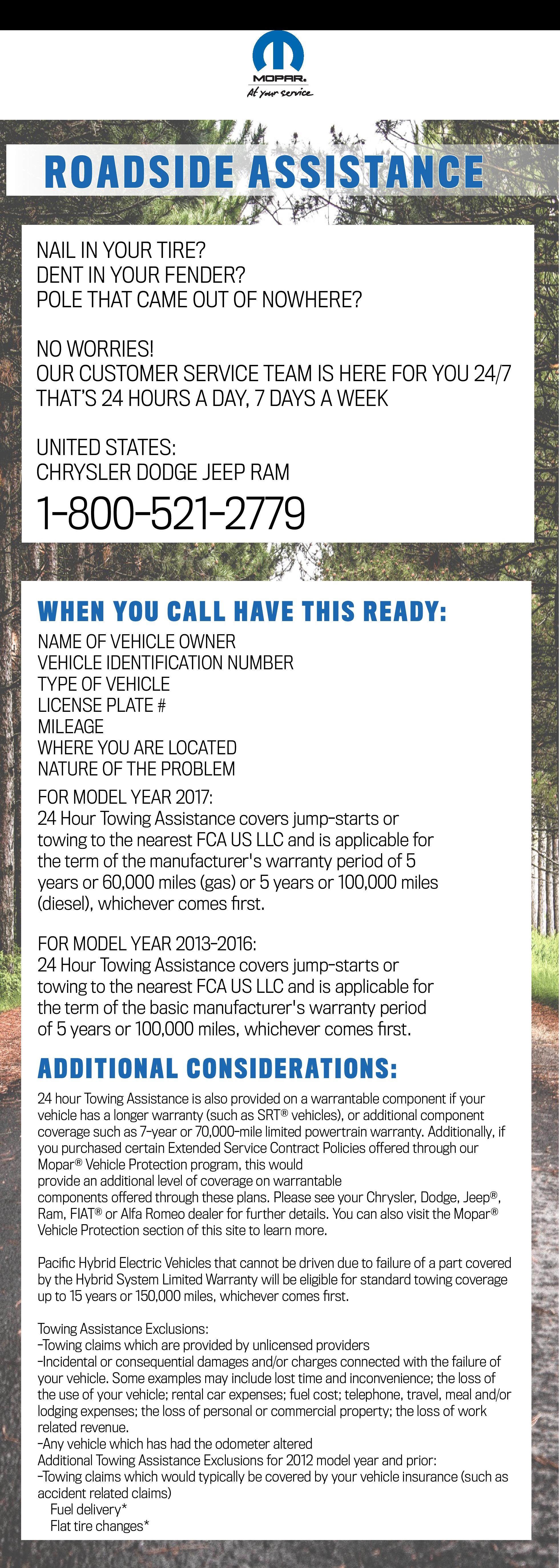 MOPAR Roadside Assistance in Billings, MT