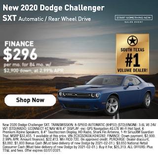 New 2020 Dodge Challenger SXT