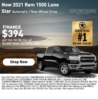 New 2021 RAM 1500 Lone