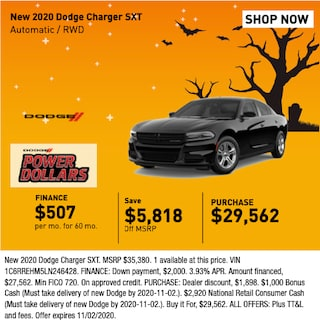 New 2020 Dodge Chargewr SXT