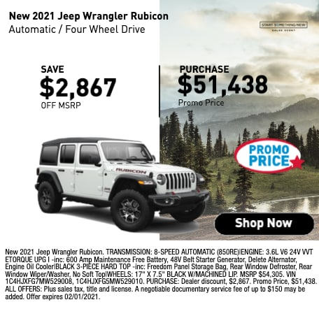 New 2021 Jeep Wrangler Rubicon