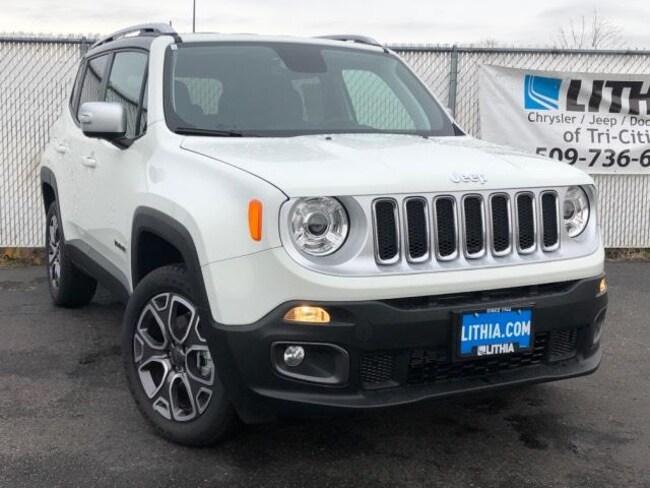 New 2018 Jeep Renegade LIMITED 4X4 Sport Utility Kennewick, WA
