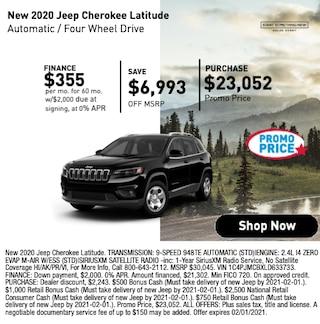 New 2020 Jeep Cherokee Latitude