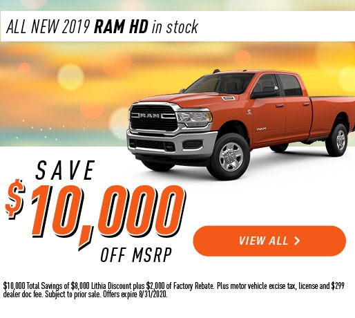 All New 2019 RAM HD in stock!