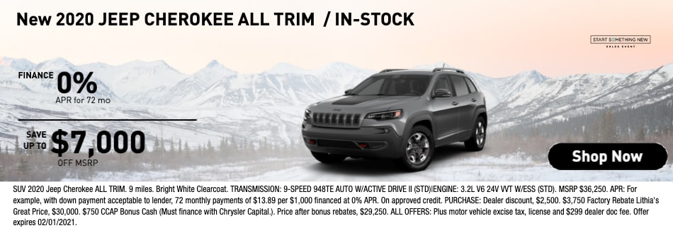 New 2020 Jeep Cherokee All Trim