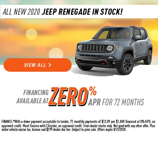 All New 2020 Jeep Renegade In Stock!