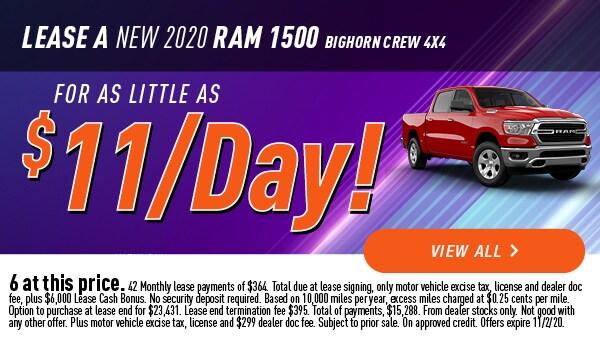 Lease a New 2020 RAM 1500 Bighorn Crew