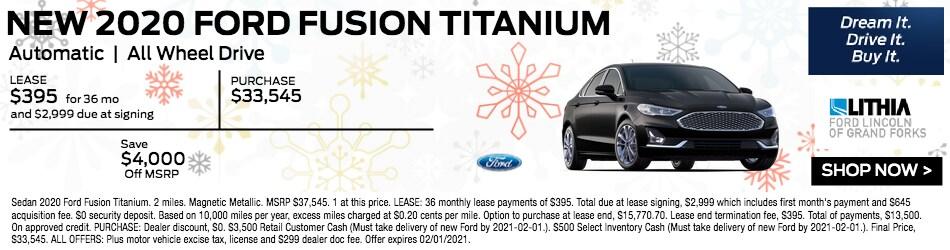 New 2020 Ford Fusion Titanium