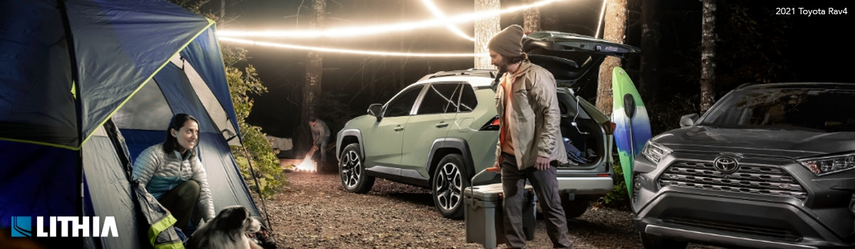 The 2021 Toyota Rav4 SUV is a great Crossover vehicle to take the whole family camping