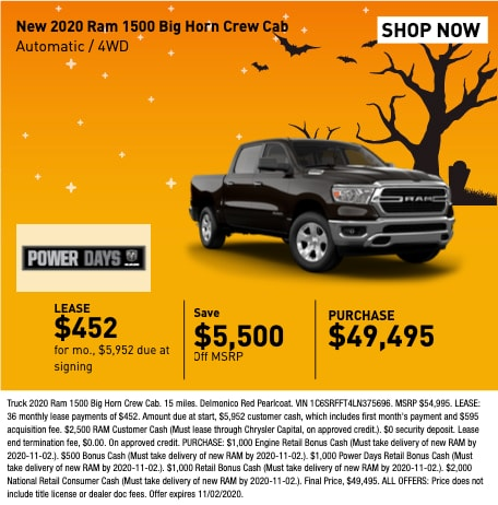 New 2020 RAM 1500 Big Horn Crew Cab