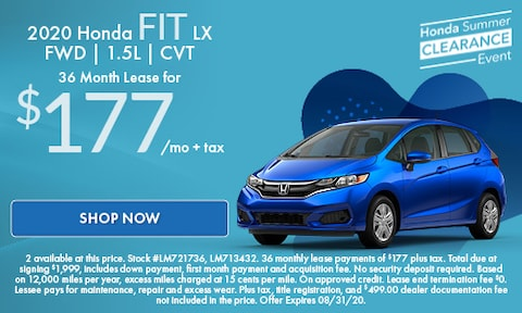 2020 Honda Fit LX  FWD | 1.5L | CVT