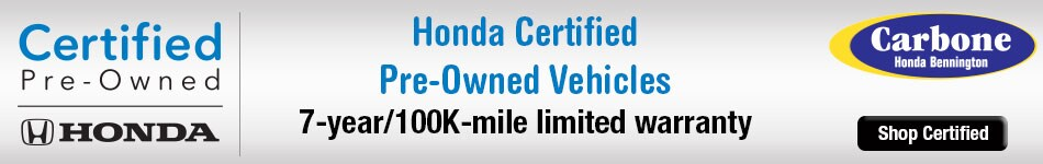 Certified Pre Owned Honda Vehicles For Sale In Bennington