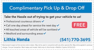 Complimentary Pick Up & Drop Off