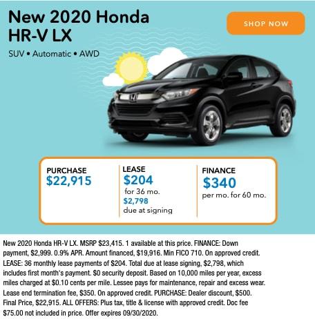 New 2020 Honda HR-V