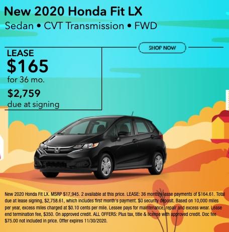 New 2020 Honda Fit