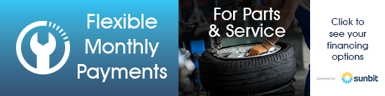 Flexible Monthly Payments for Parts & Service, Click to see your financing options.