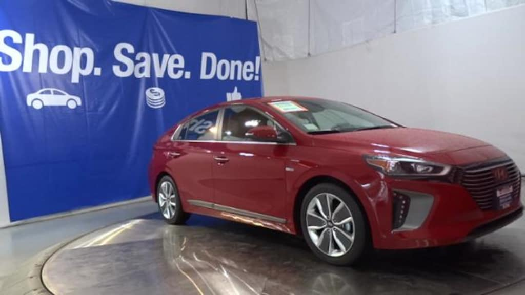 New 2019 Hyundai Ioniq Hybrid Hatchback Scarlet Red Pearl For Sale