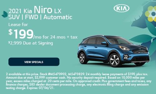 2021 Kia Niro LX SUV | FWD | Automatic