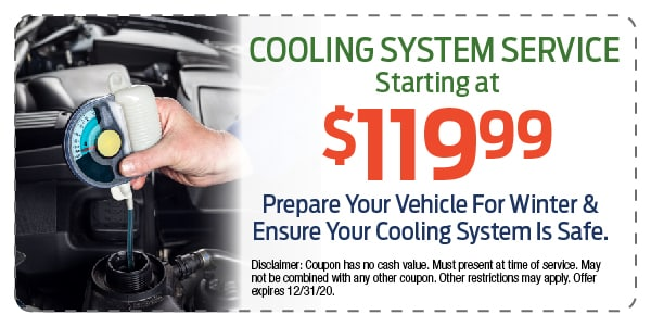 Cooling System Service Starting $119.99