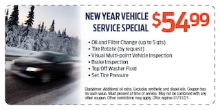 New Year Vehicle Service Special