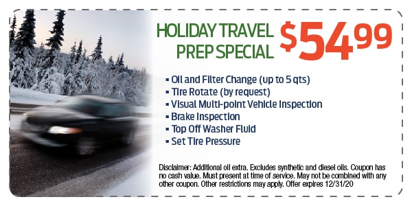 Holiday Travel Prep Special