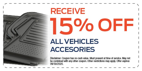 15% Off All Vehicles Accesories