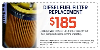 Diesel Fuel Filter Replacement