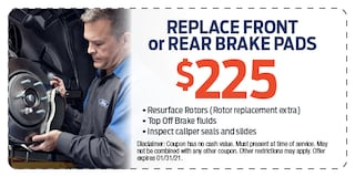 Replace Front or Rear Brake Pads