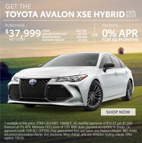 Toyota Avalon SXE Hybrid