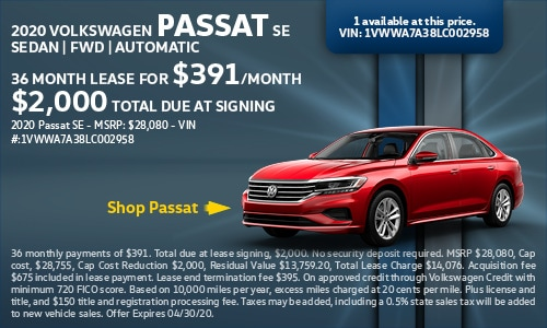 New 2020 Volkswagen Passat