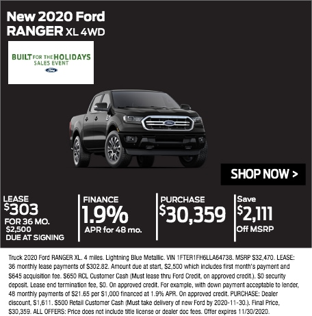 New 2020 Ford Ranger XL