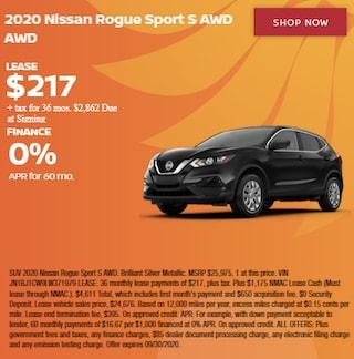 2020 Nissan Rogue Sport S AWD