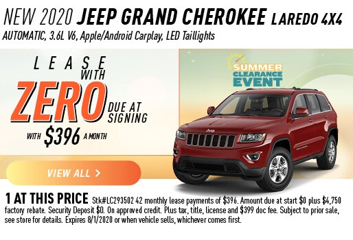 2020 JEEP GRAND CHEROKEE LAREDO 4X4 LEASE ZERO DUE AT SIGNING