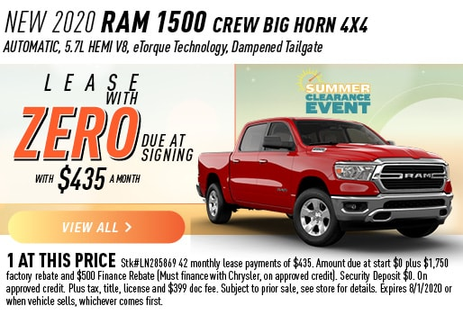 2020 RAM 1500 CREW BIG HORN 4X4 LEASE ZERO DUE AT SIGNING