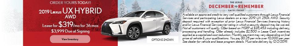 2019 Lexus UX Hybrid AWD