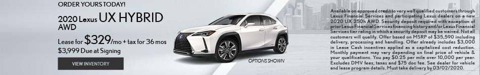 2020 Lexus UX Hybrid AWD