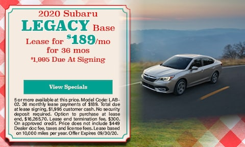 New 2020 Subaru Legacy Base