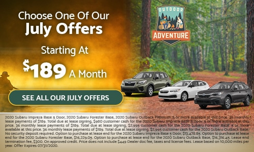 Choose One Of Our July Offers - Starting At $189 A Month